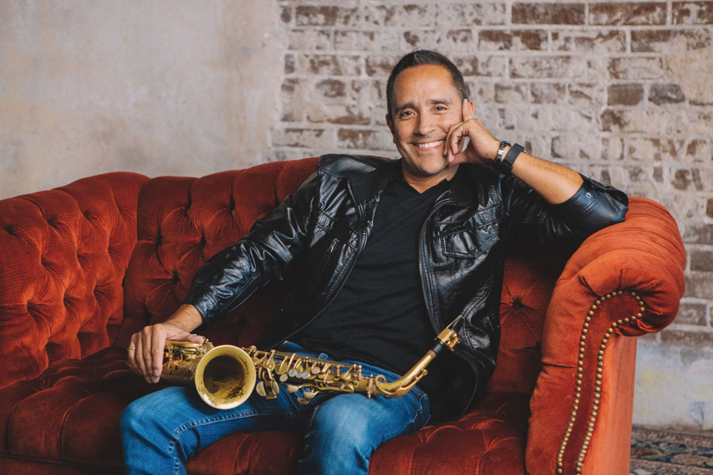 Photo of David Caceres, saxophonist